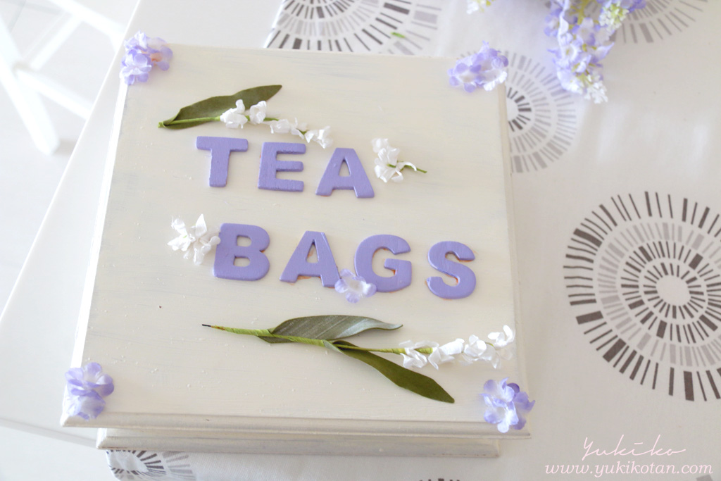 DIY teabag storage