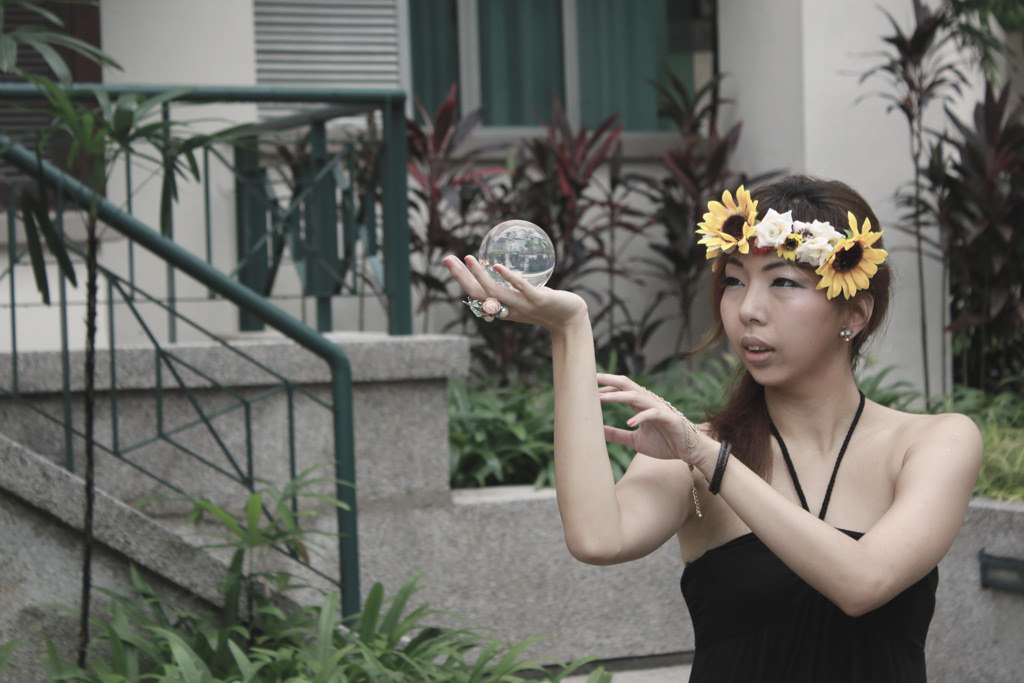 Sunflowers and crystal balls